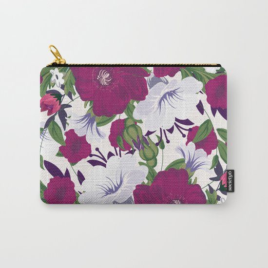 Purple Spring Flowers Carry-All Pouch