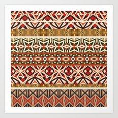 Tribal Pattern #2 Art Print