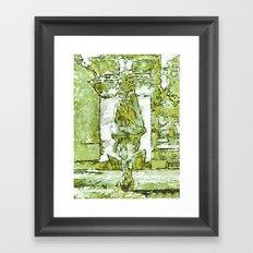 MONK PRAYER BY Cd KIRVEN Framed Art Print