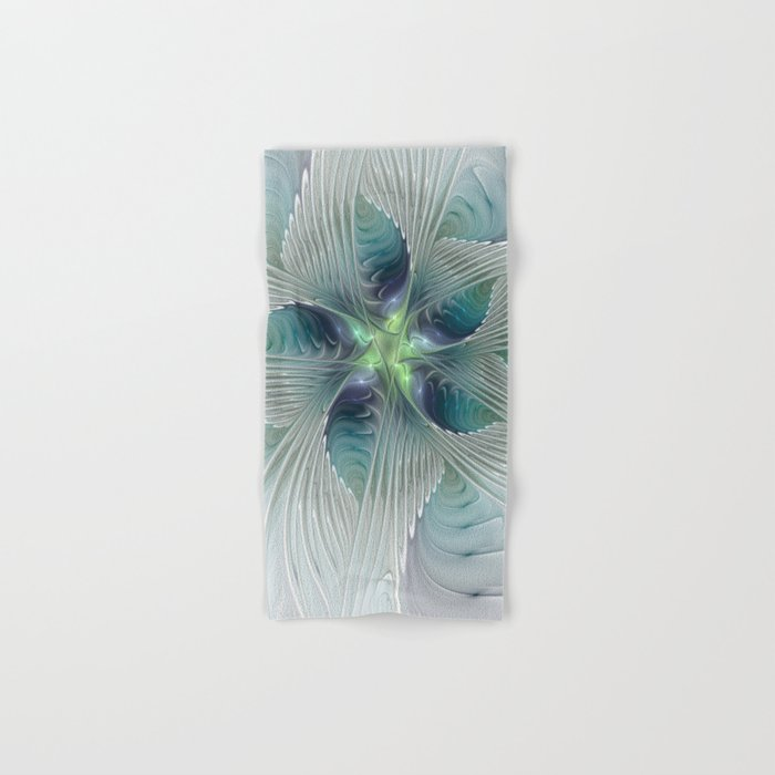 A Floral Fantasy, Abstract Fractal Art Hand & Bath Towel