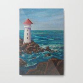 The Lighthouse Rocks AC151208c-12 Metal Print