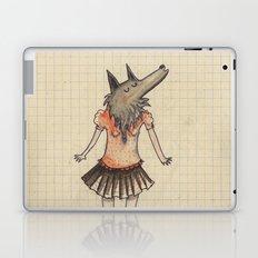 Woman Wolf at school Laptop & iPad Skin