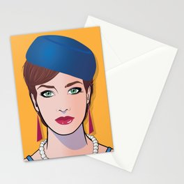 Pop Art Beautiful Woman Pop Art Girl Chrissie Stationery Cards