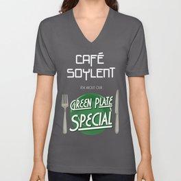 Soylent Cafe's Green Plate Special Unisex V-Neck