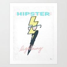 Hipster Lightning Art Print