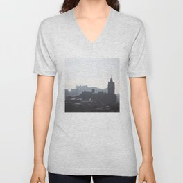 View of Princes Street from Calton Hill 1 Unisex V-Neck