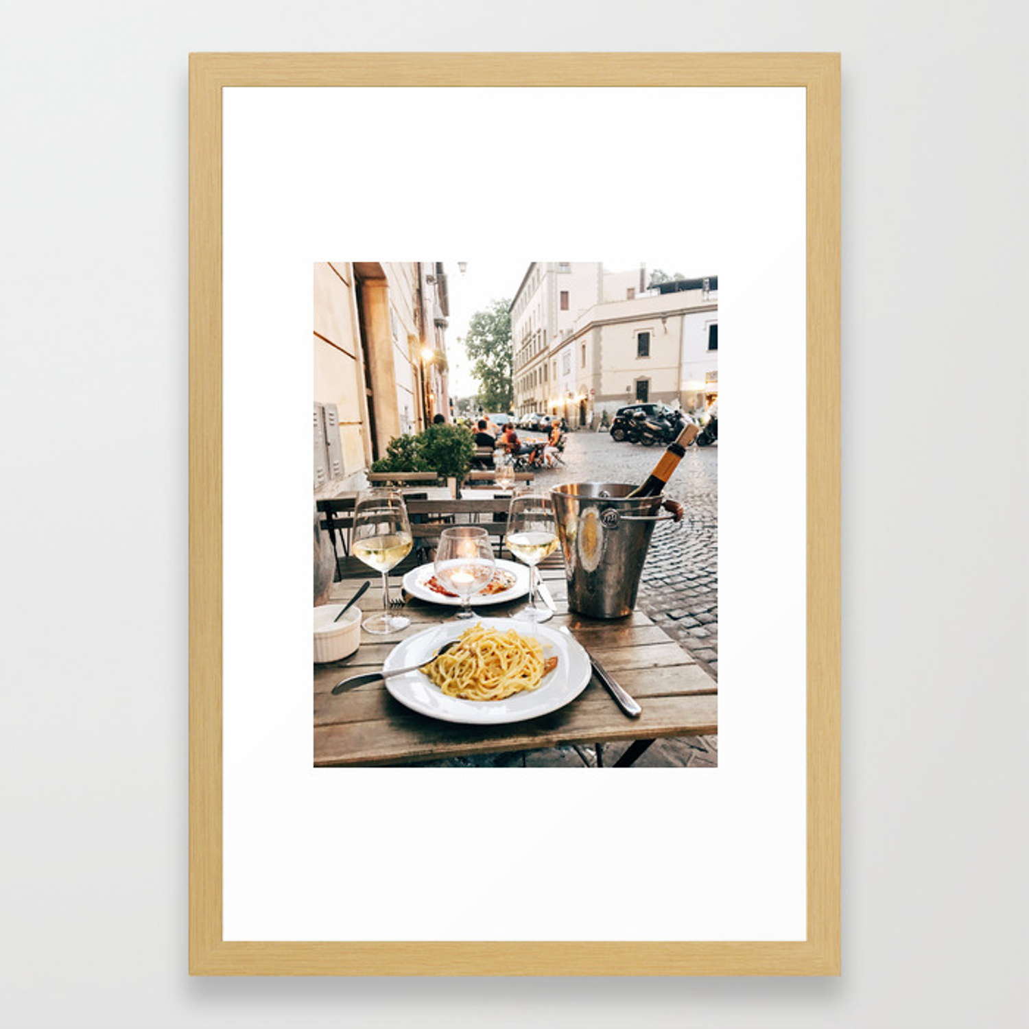 Dinner In Rome Framed Art Print By Aislingclaire Society6