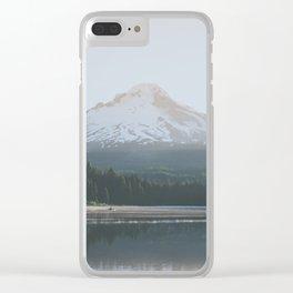 Trillium Lake Sunrise - Nature Photography Clear iPhone Case