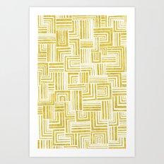 Golden Doodle weave Art Print