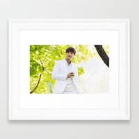 exo Framed Art Prints featuring EXO Kai by TheRmickey