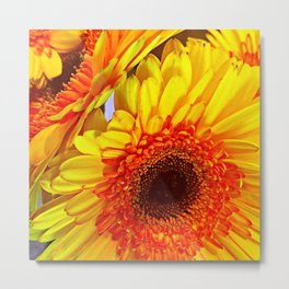 Sunflower Portrait Metal Print