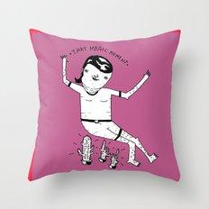 Crazy girl, crazy thougths. Throw Pillow