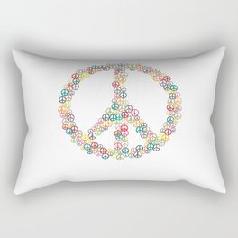 Peace Sign Hippie Peace Symbol Love Rectangular Pillow