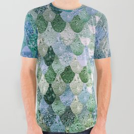 REALLY MERMAID OCEAN LOVE All Over Graphic Tee
