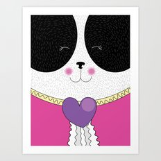 Lovely Panda Girlfriend! - cute, funny, sweet, panda bear! Art Print