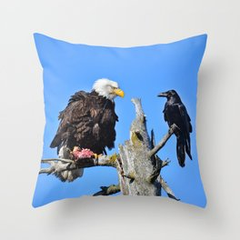 Avian Showdown Throw Pillow