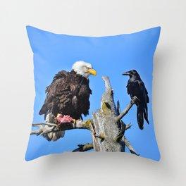 Avian Showdown Throw Pillow