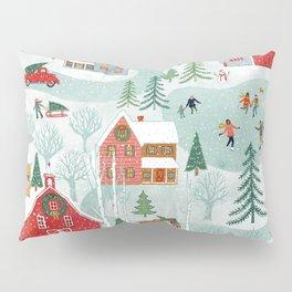 New England Christmas Pillow Sham