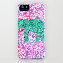 Elephant in Paisley Dream iPhone Case