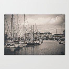 Casino at the harbor Canvas Print