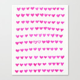 Surrounded by Hearts Canvas Print