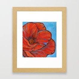 Big Poppy Framed Art Print