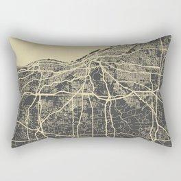 Cleveland map yellow Rectangular Pillow