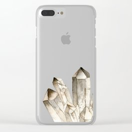 Smokey Quartz Clear iPhone Case