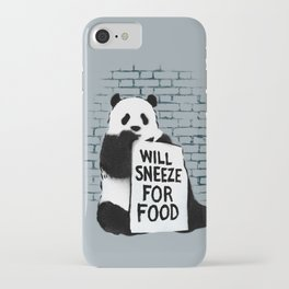 Will sneeze for food iPhone Case