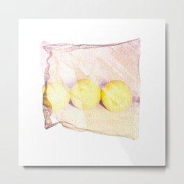 Emulsion Lift 5- When Life Gives You Lemons Metal Print