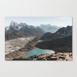 Gokyo Ri overlooking Gokyo Lakes in Everest Region Canvas Print