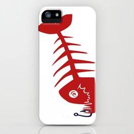 Pirate Bad Fish red- pezcado iPhone Case