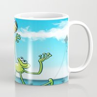 volleyball Mugs featuring Olympic Volleyball Frog by Zoo&co on Society6 Products