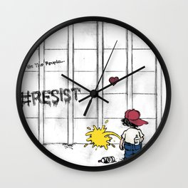 #RESIST the Wall Wall Clock