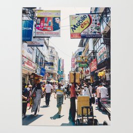 Streets of the Market, Colombo, Sri Lanka Poster