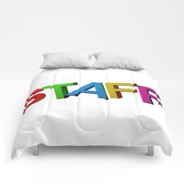 Colorful STAFF Comforters