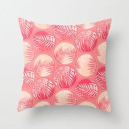 Pink Tropical Coins #society6 #decor #buyart Throw Pillow