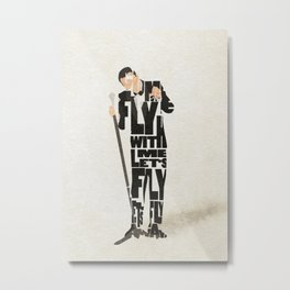 Typography Art of Frank Sinatra Metal Print