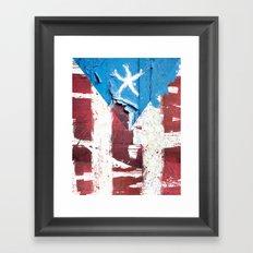 Puerto Rico Flag Framed Art Print