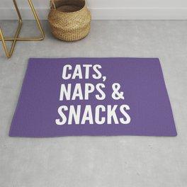 Cats, Naps & Snacks (Ultra Violet) Rug