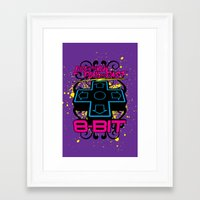 8 bit Framed Art Prints featuring 8-bit by Matthew Bartlett