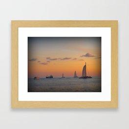 Key West Sunset Framed Art Print