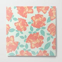 Pastel color natural roses Metal Print