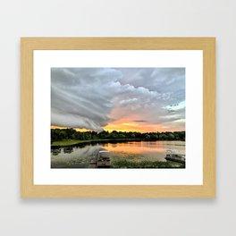"""""""Stormy Sunset"""" Framed Art Print"""