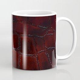 Red natural leather female purse closeup Coffee Mug