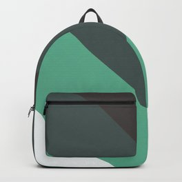 Sage Chevron Stripes Backpack