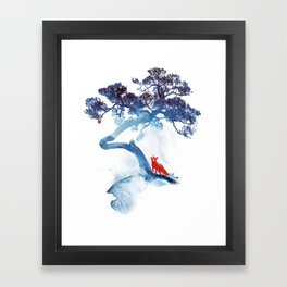 The last apple tree Framed Art Print