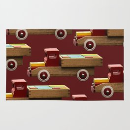 Vintage wooden toy truck #decor #society6 #buyart Rug