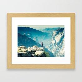 Alive on Half Dome Framed Art Print