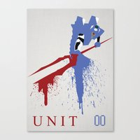 evangelion Canvas Prints featuring Evangelion Unit 00 by DaveBot